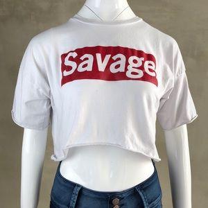 My Savage Crop Tee